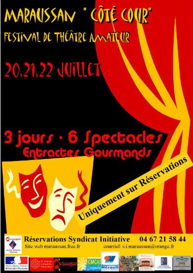 Festival de théâtre amateur: 3 jours, 6 spectacles et 3 entractes gourmands